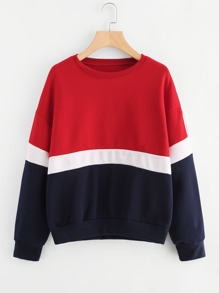 Cut & Sew Panel Tape Detail Pullover