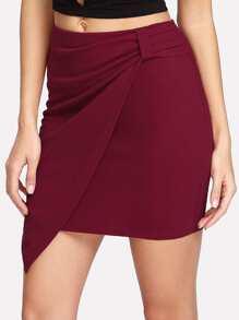 Zip Side Wrap Skirt