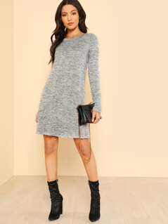 Long Sleeve Flowy Dress GREY