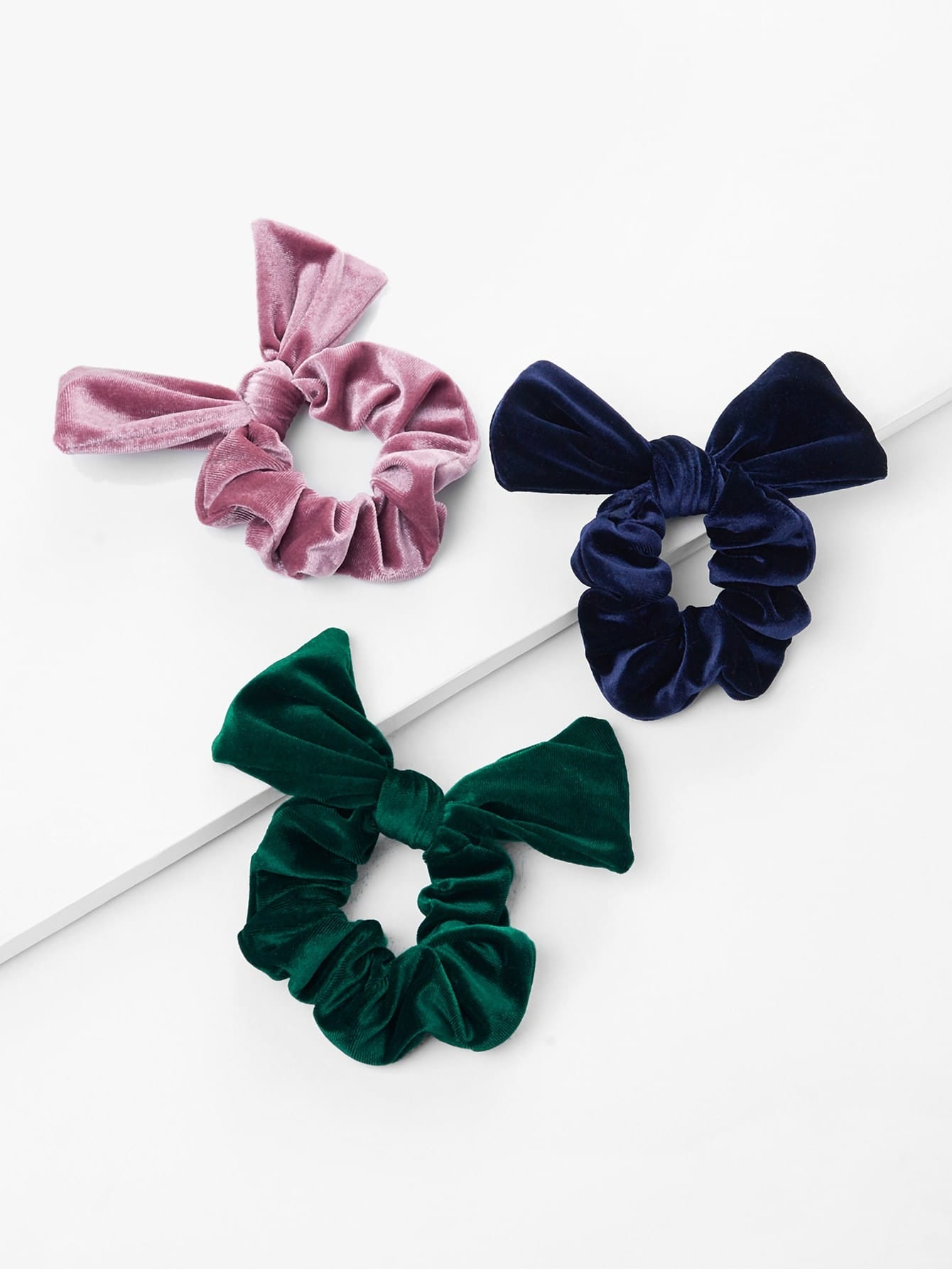 Velvet Knot Hair Tie 3pcs ear knot velvet hair tie 2pcs
