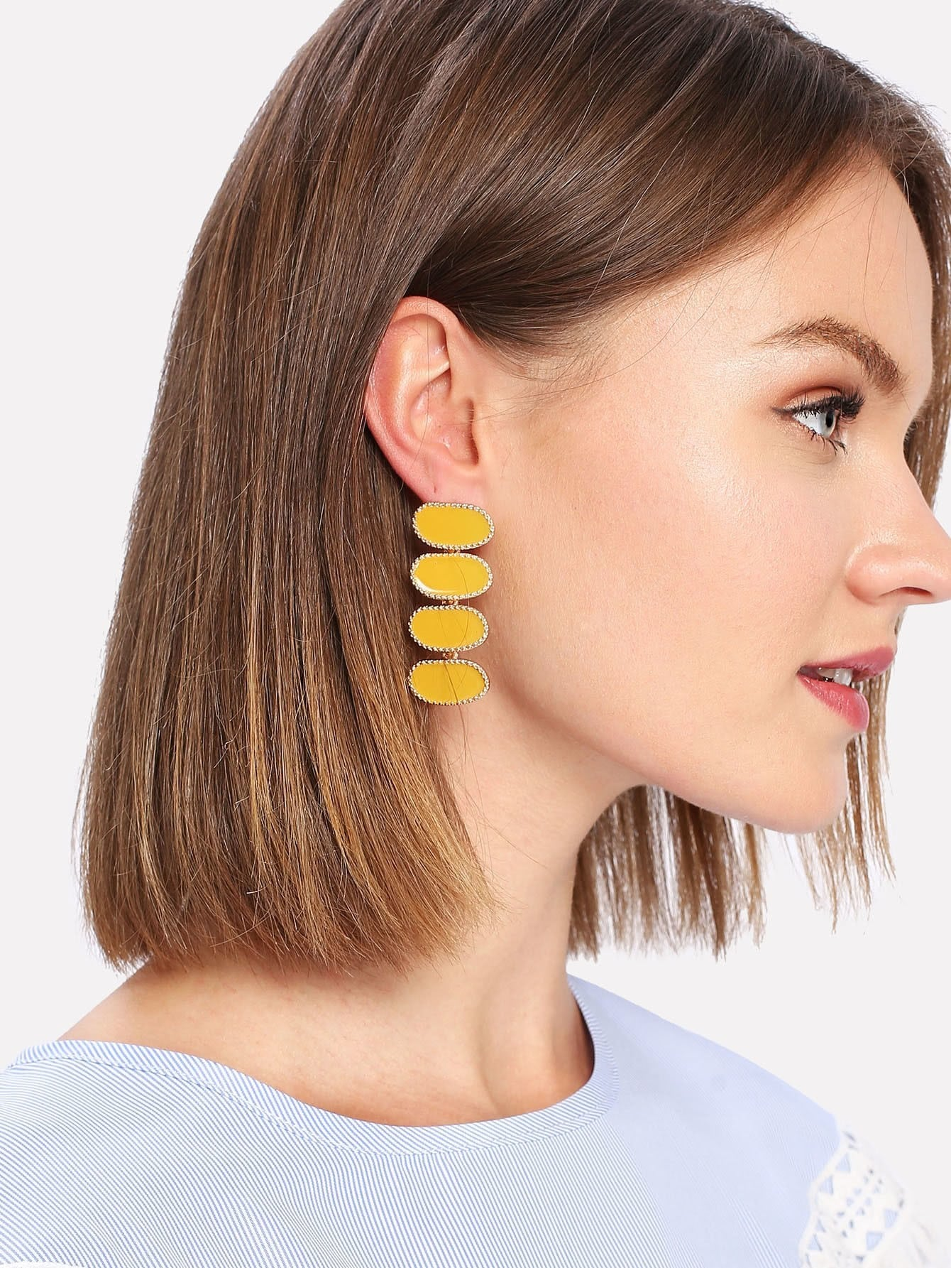 Contrast Drop Earrings джинсы gap gap ga020ewkcz41