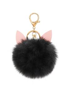 Pom Pom Keychain With Ear