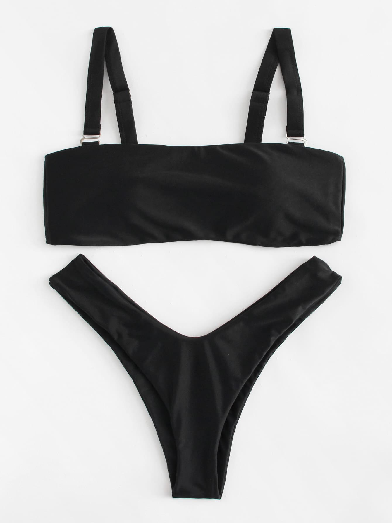 Фото High Leg Bikini Set checker knot bikini set