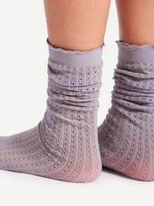 Hole Slouch Socks