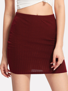 Ribbed Knit Skirt