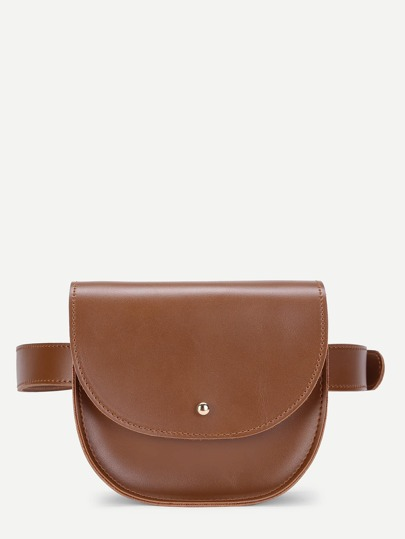 Saddle Flap PU Bum Bag
