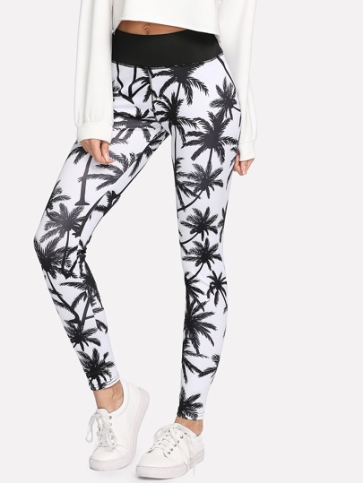 Leggins con estampado tropical