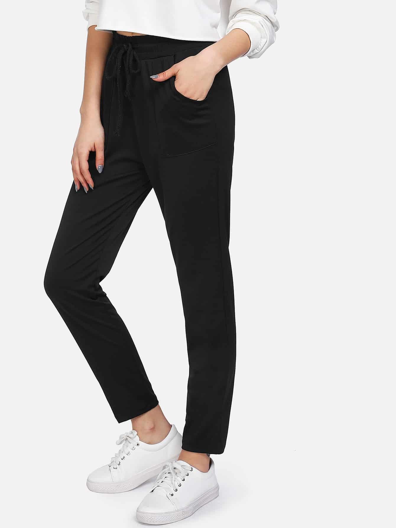 Drawstring Waist Pants plus size ruffle drawstring waist gaucho pants
