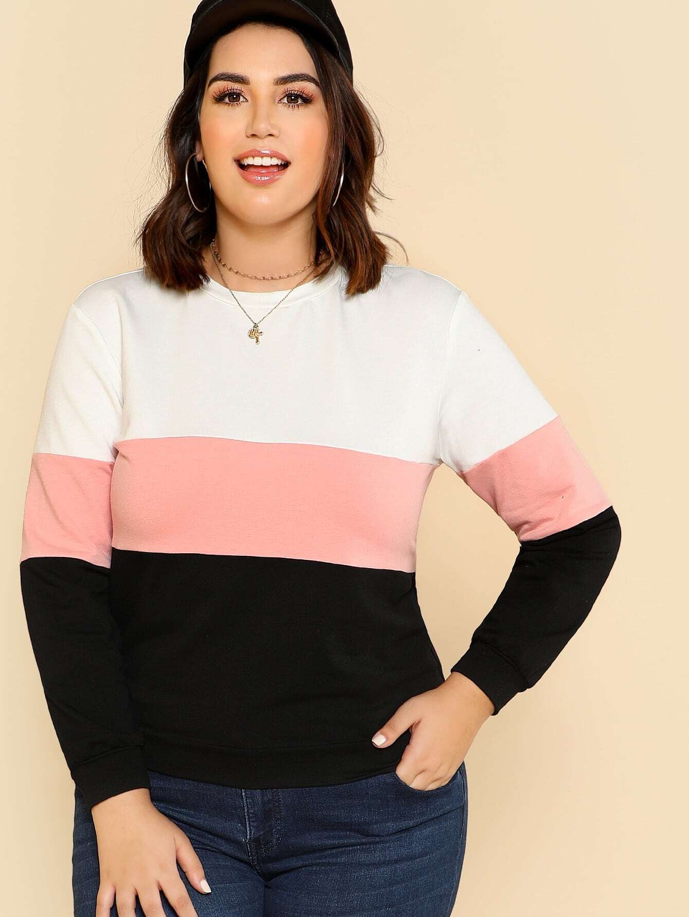 Cut And Sew Pullover sweatsh171201702