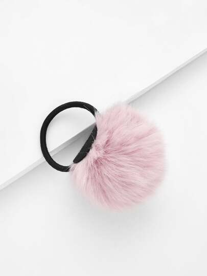 Pom Pom Decorated Hair Tie