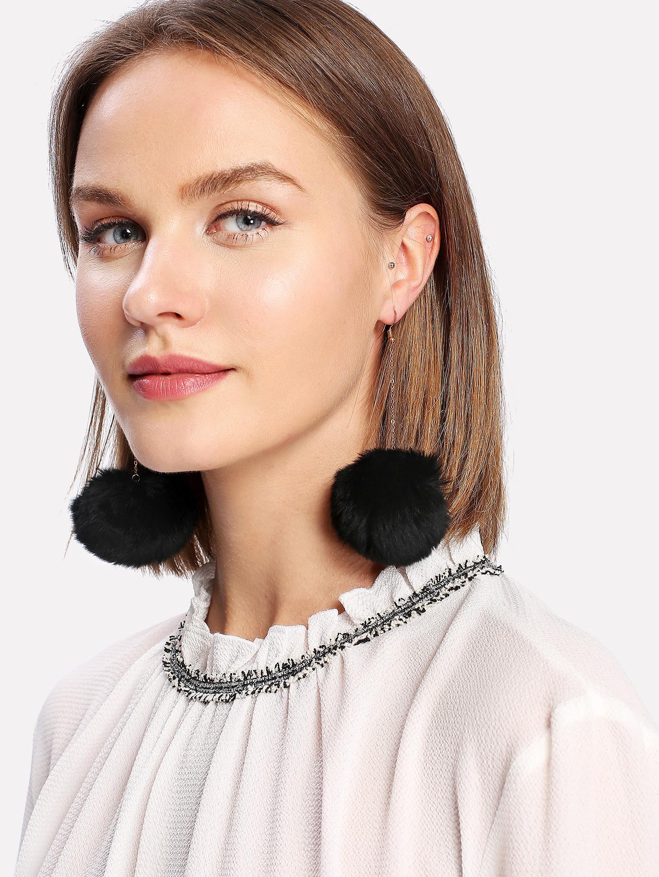 Pom Pom Drop Earrings pom pom drop earrings