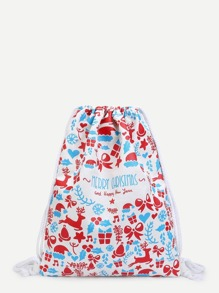 Christmas Canvas Backpacks Bag