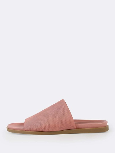 Mesh Open Toe Slide Sandals MAUVE