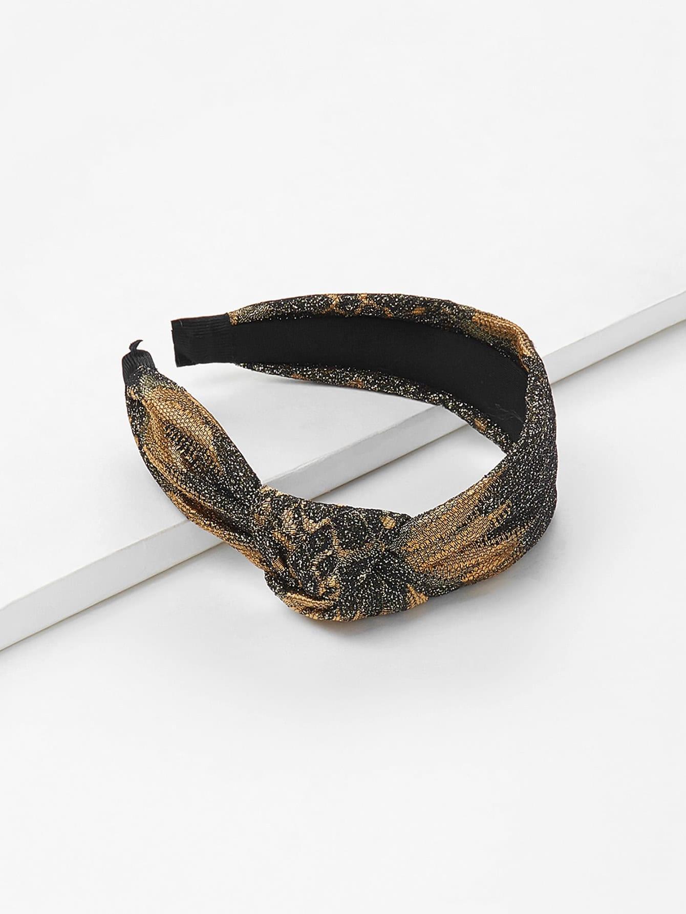 Knot Design Glitter Headband