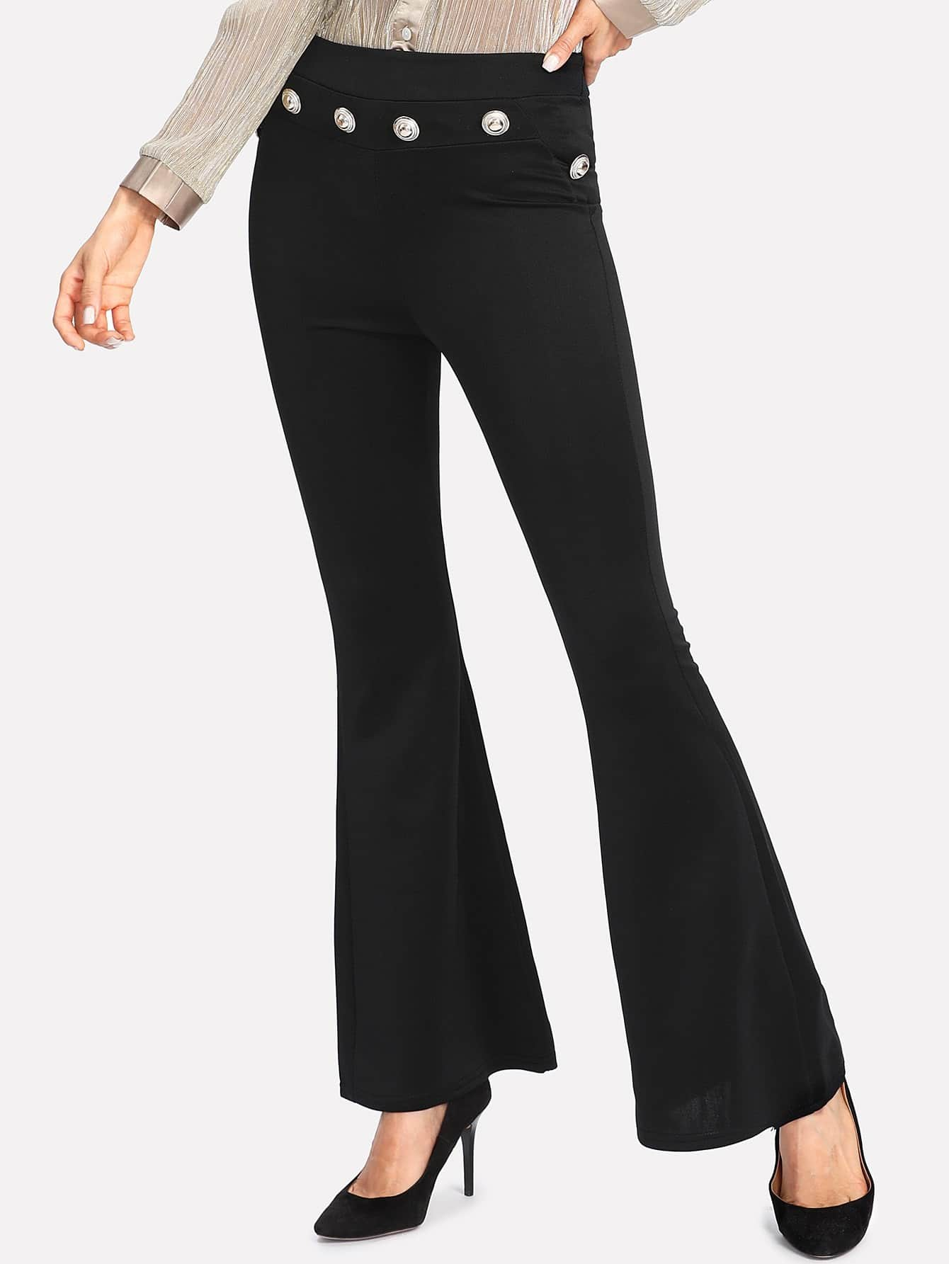 Image of Zip Back Flare Pants