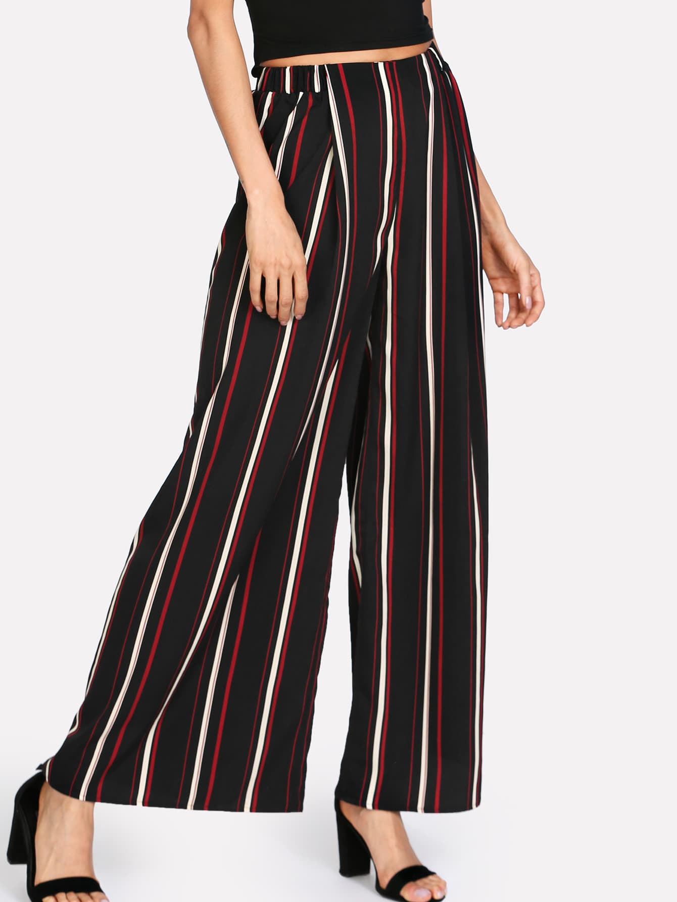 Vertical Striped Palazzo Pants vertical striped pants
