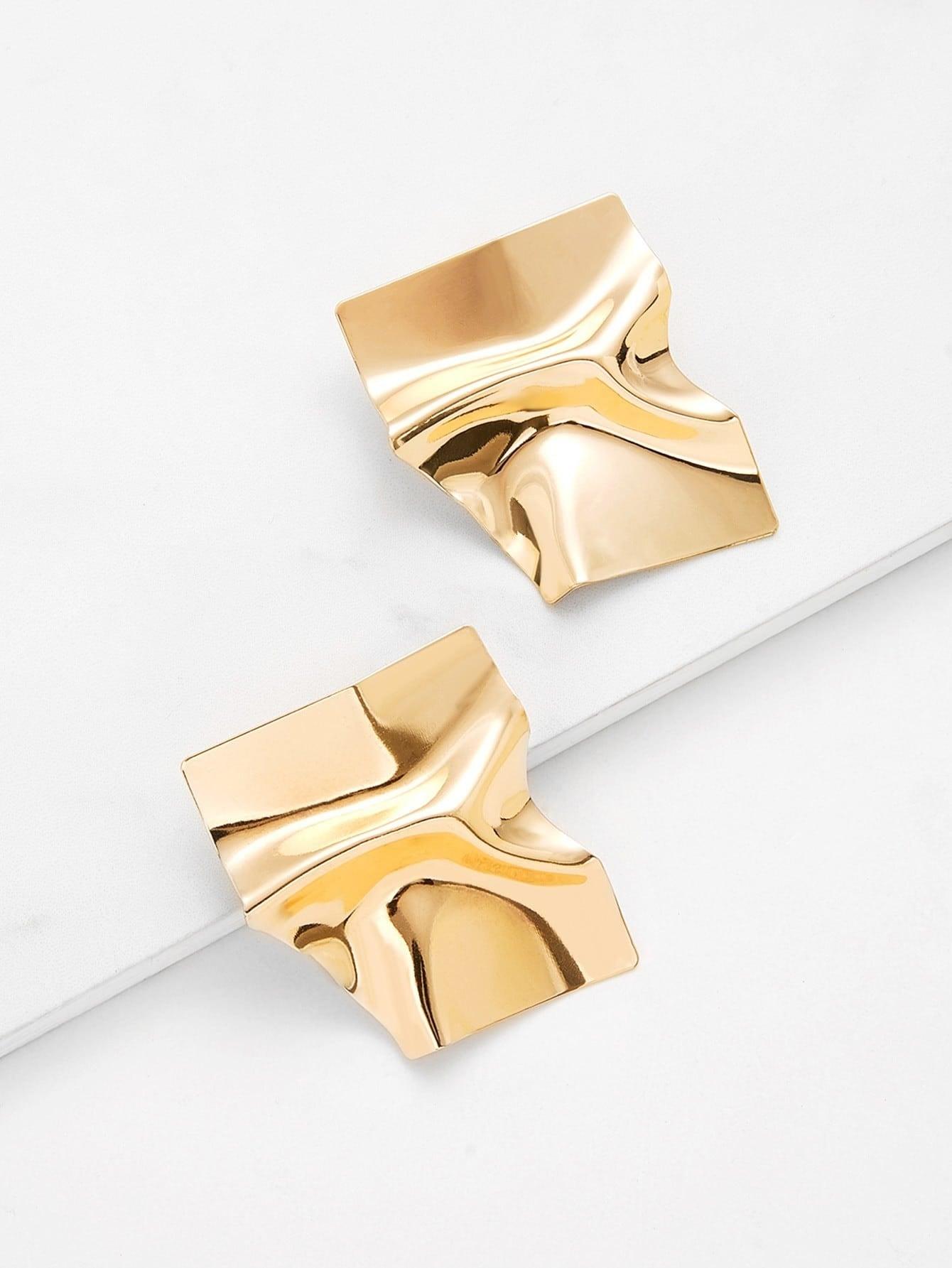 Irregular Shaped Stud Earrings waterdrop shaped stud earrings