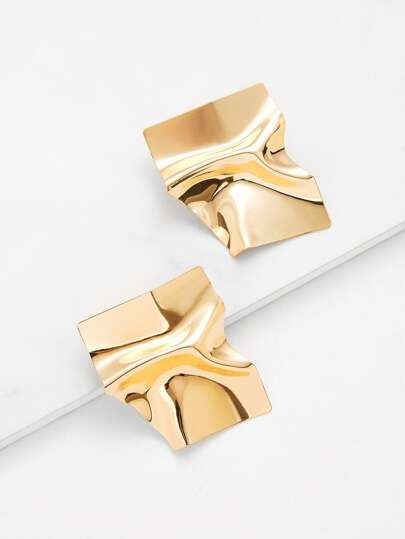 Irregular Shaped Stud Earrings