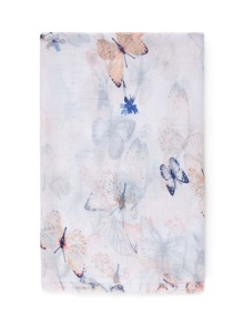 Butterfly Print Soft Scarf