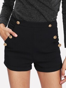 Shorts avec détail de bouton