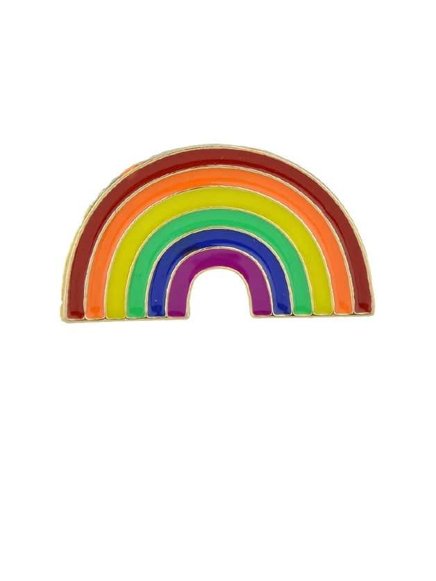 Rainbow Cartoon Metal Badges Colorful Enamel Brooch For Women Girl Accessories