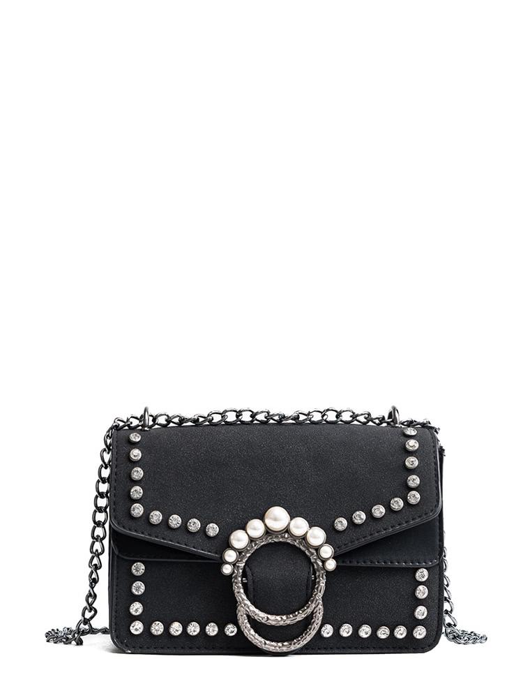 Faux Pearl Decor Chain Bag cartoon decor chain bag