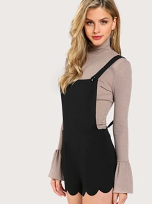 Scallop Edge Pinafore Romper