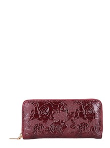 Embossed Flower PU Purse