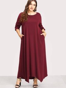 Long Sleeve Solid Maxi Dress
