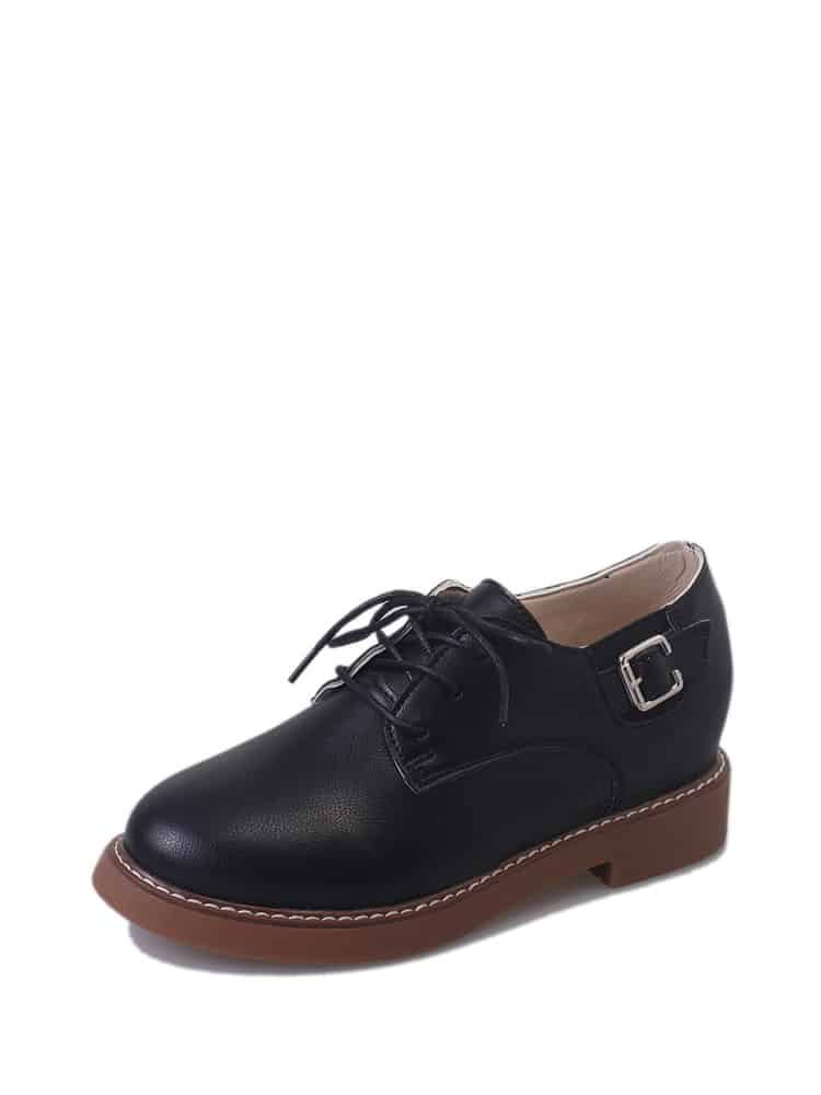 Buckle Detail Lace Up Oxfords
