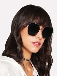 Metal Top Bar Sunglasses