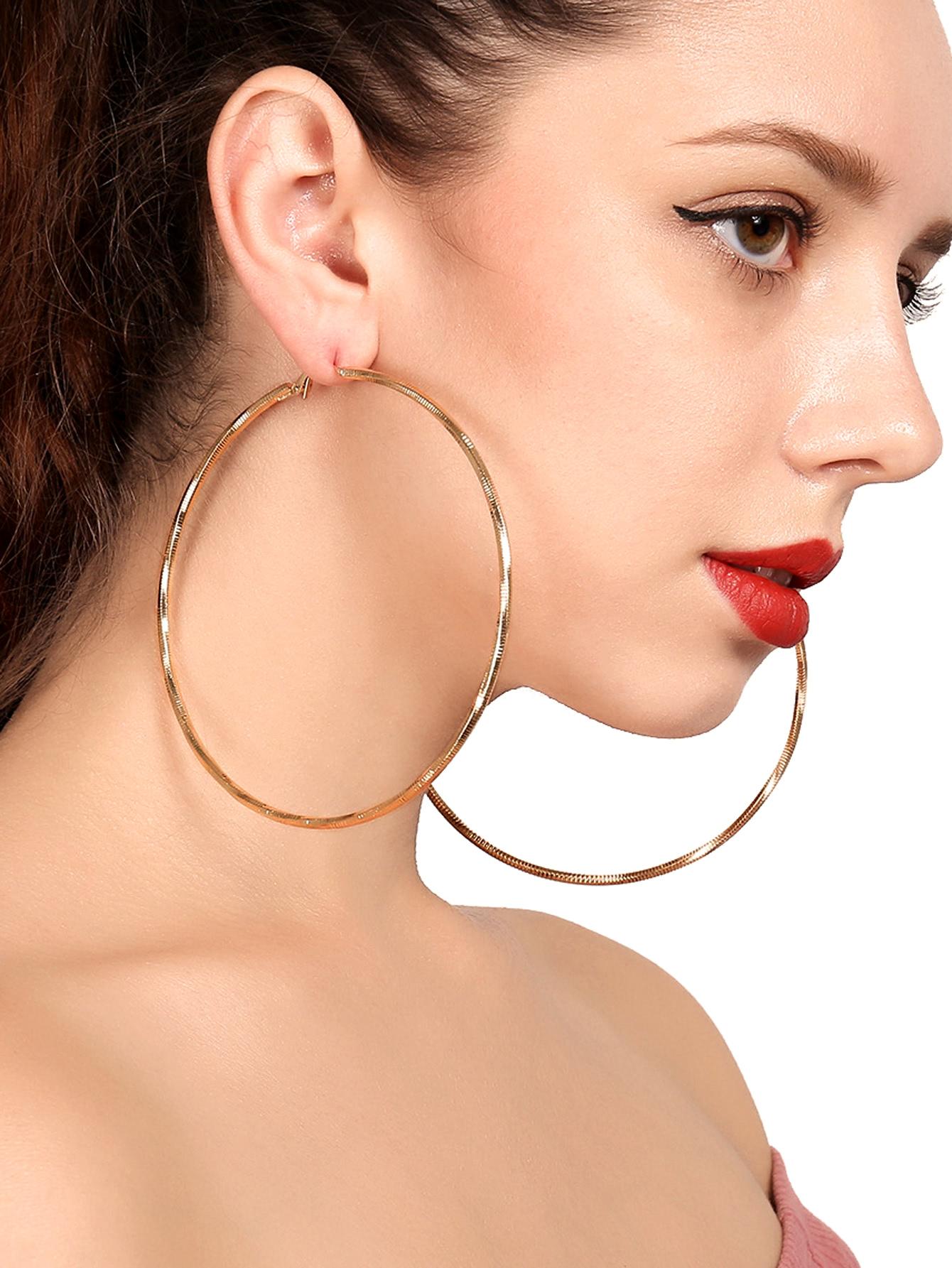 Open Hoop Drop Earrings vintage tassel drop hoop earrings
