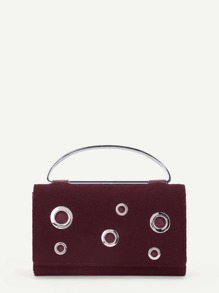 Grommet Design Foldover Purse