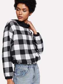 Checked Hooded Sweatshirt