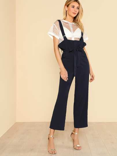 Pocket Front D-Ring Strap Overalls