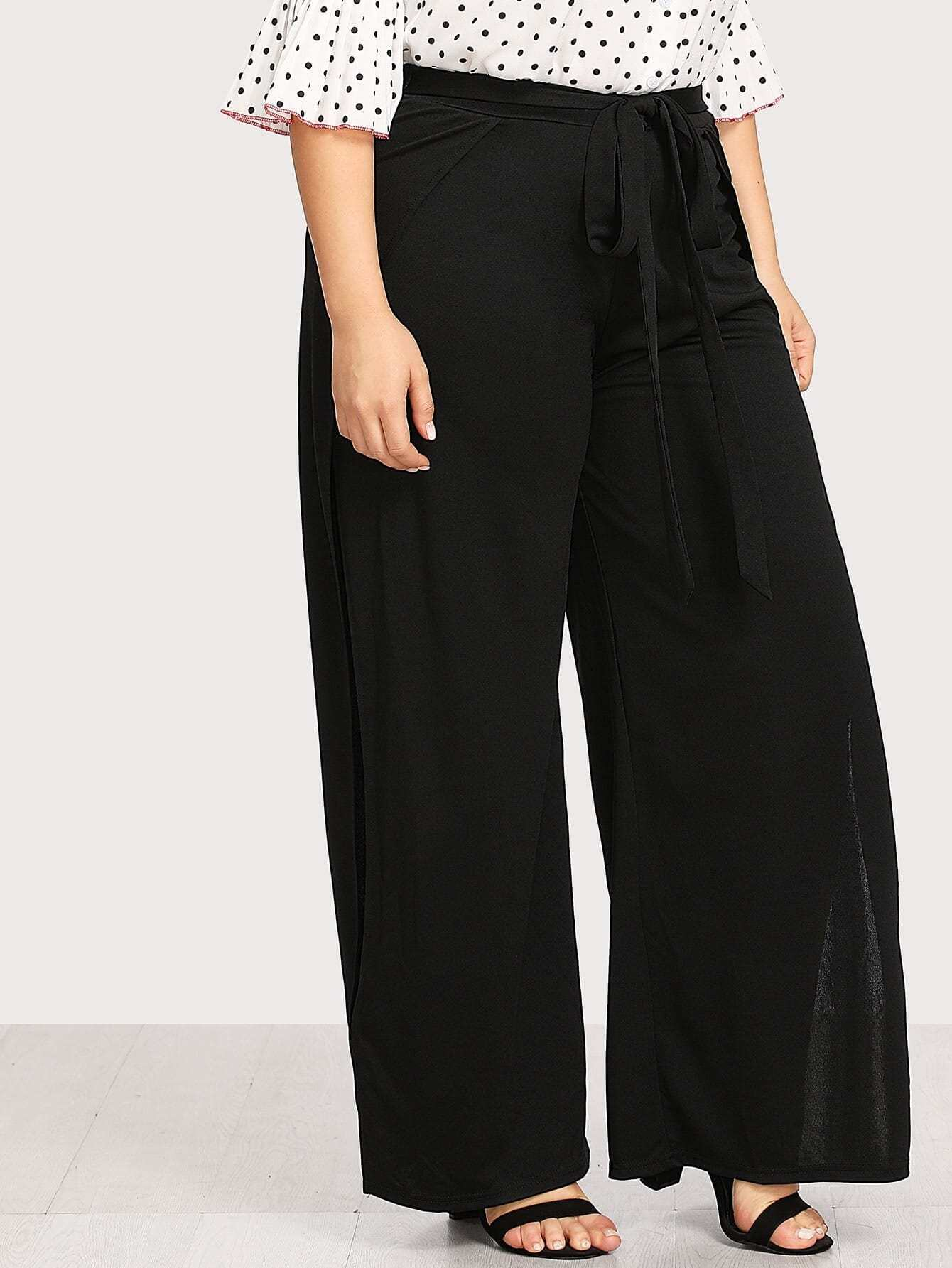 Image of Split Side Wide Leg Pants