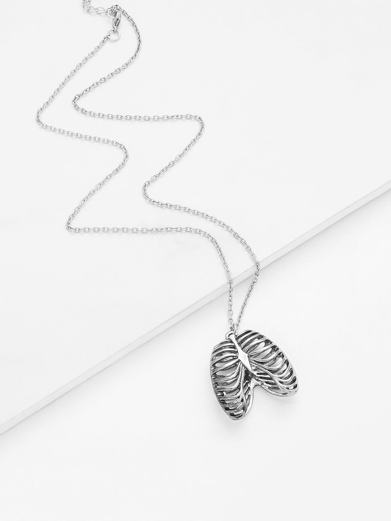 Bone Pendant Chain Necklace