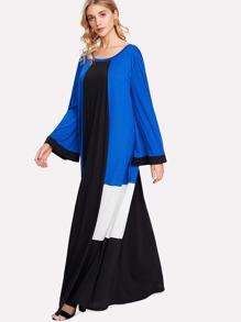 Scoop Neck Color Block Dress