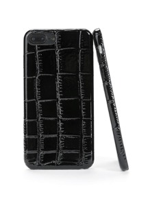 Crocodile Pattern PU iPhone Case