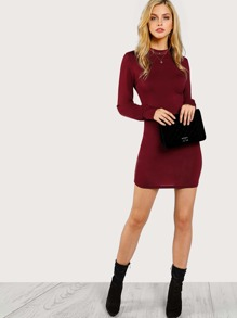 Bishop Sleeve Fitted Dress