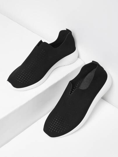 Wildleder Slip On Turnschuhe