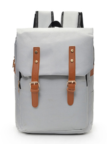 Studded Detail Double Buckle Backpacks