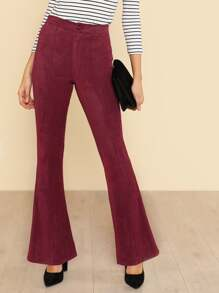 Solid Flared Pants