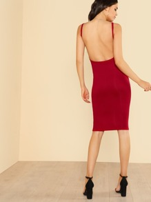 Low Back Form Fitted Dress