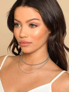 Triple Layered Choker Necklace