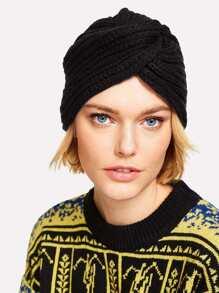 Cappello Twist in maglia a coste