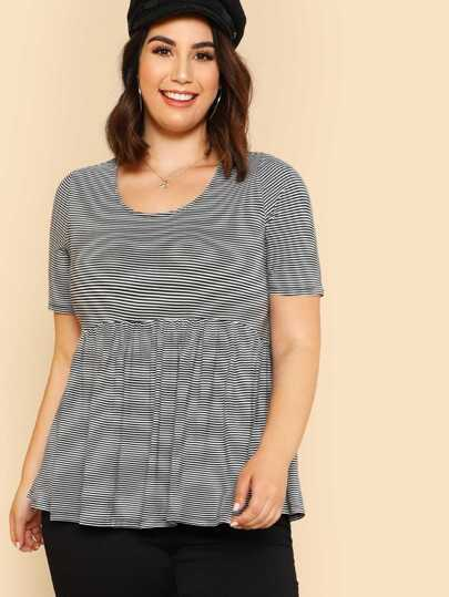 Striped Smock Tee