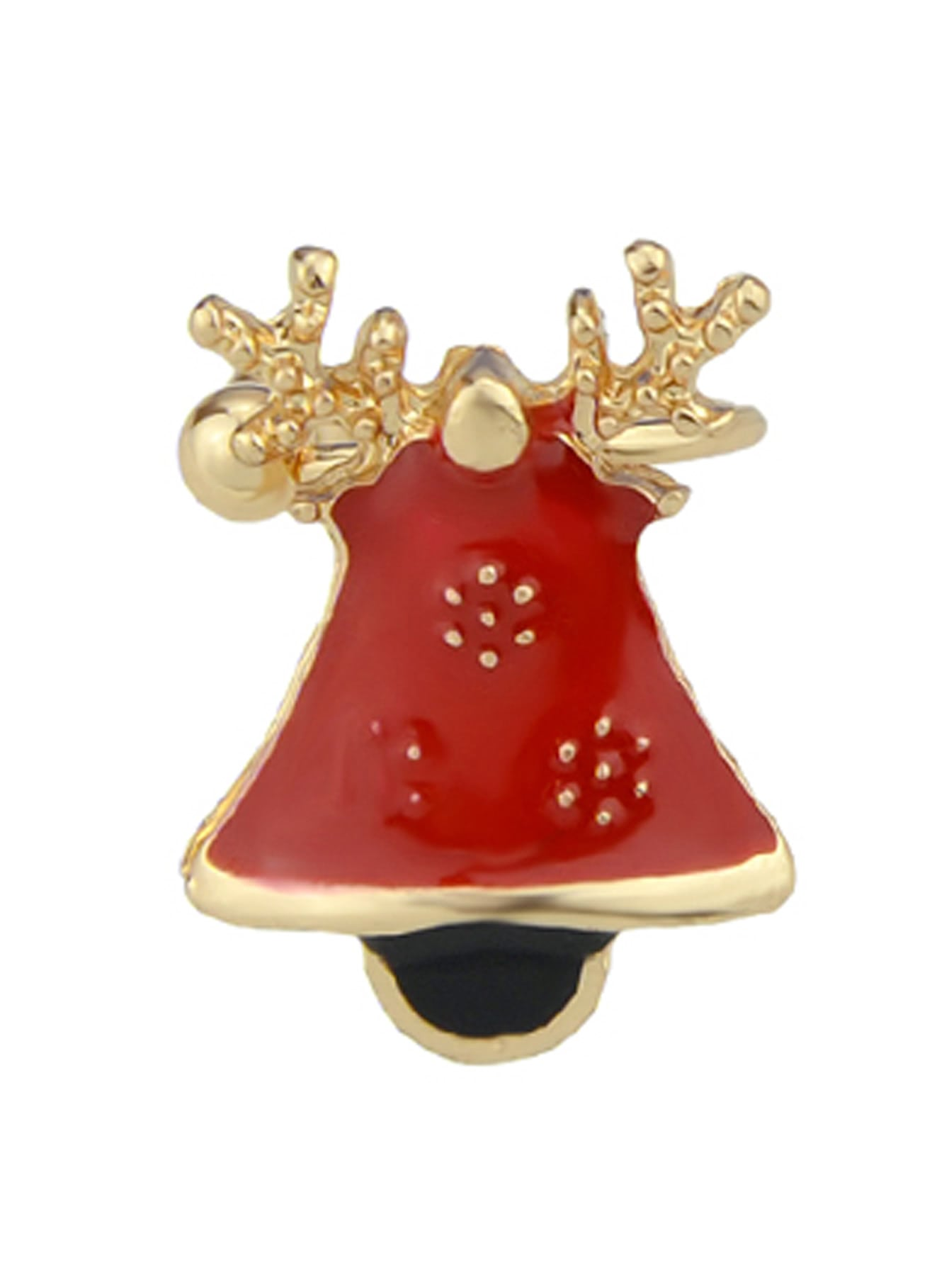 Bell 1Pc Christmas Jewelry Enamel Santa Snowflake Bell Deer Gift Box Snowman Ear Cuff Cartilage Clip Earrings