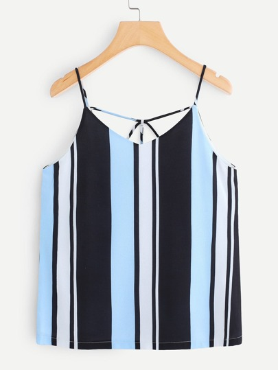 Strappy Back Striped Cami Top