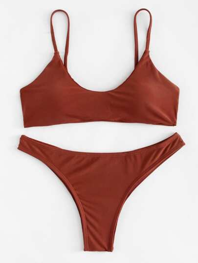 Criss Cross Drawstring Bikini Set